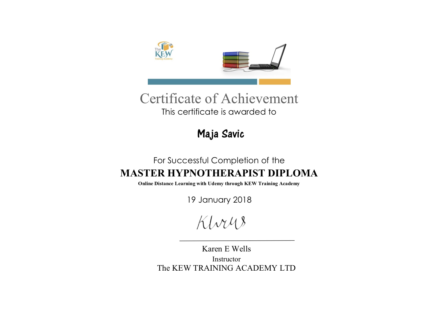 master-hypnotherapy-diploma-maja-savic