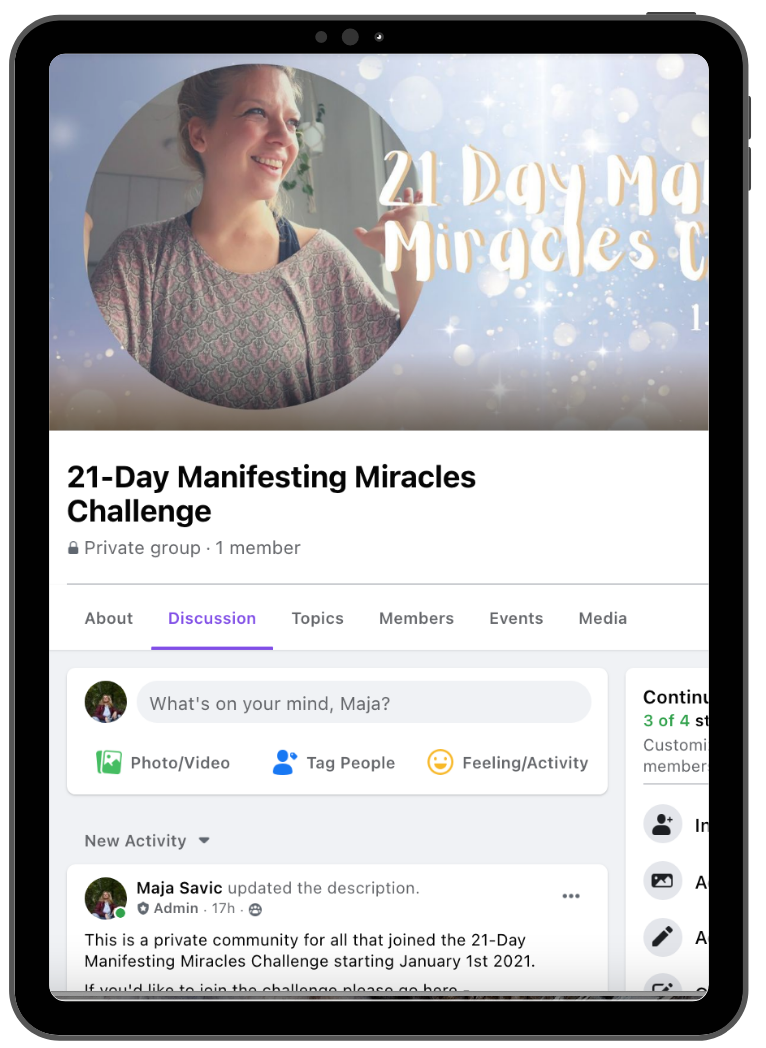, 21-Day Manifesting Miracles Challenge