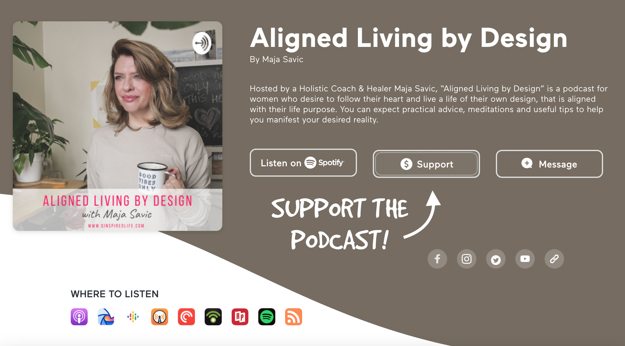 podcast, Aligned Living by Design Podcast